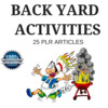 Thumbnail Backyard Activities - Quality PLR Private Label Articles