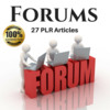 Forums - PLR Private label Rights Articles, (Blog content)