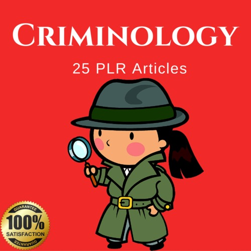 Product picture Criminology - Private Label Rights PLR Articles on Tradebit