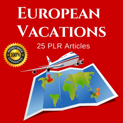 Product picture European Vacations - PLR Private label Rights Articles