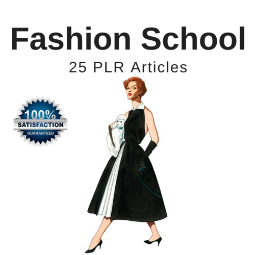 Product picture Fashion School - PLR Private Label Rights Articles