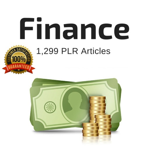 Product picture Finance - PLR Private Label Rights Articles - Tradebit Speci