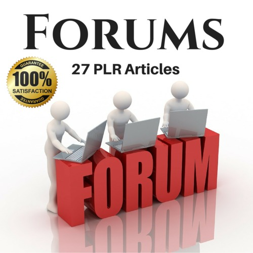 Product picture Forums - PLR Private label Rights Articles, (Blog content)