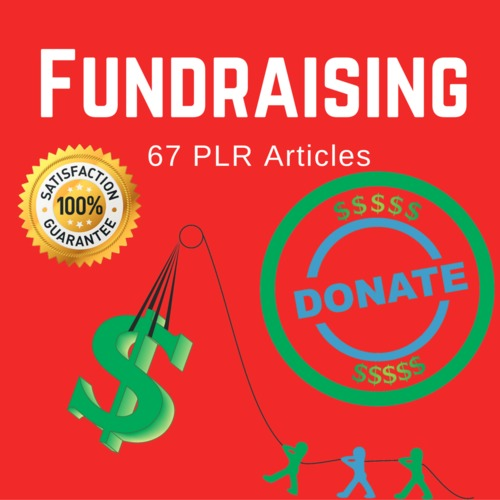 Product picture Fundraising - MRR PLR Private Label Rights Articles