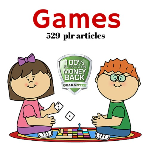Product picture Games - MRR PLR Private Label Rights Articles
