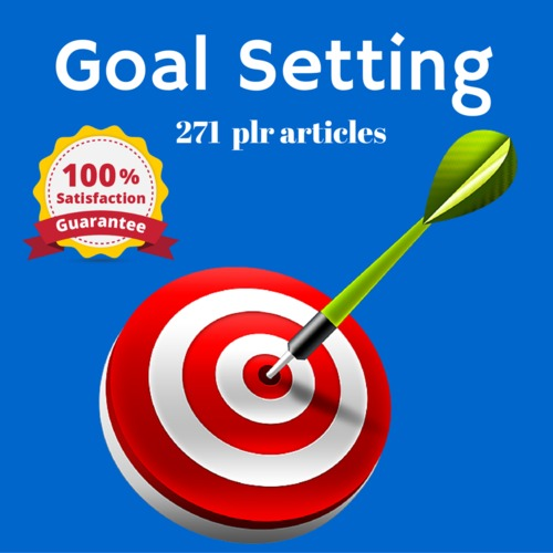 Product picture Goal Setting - MRR PLR Private Label Rights Articles