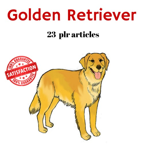 Product picture Golden Retriever - PLR Private Label Rights Articles