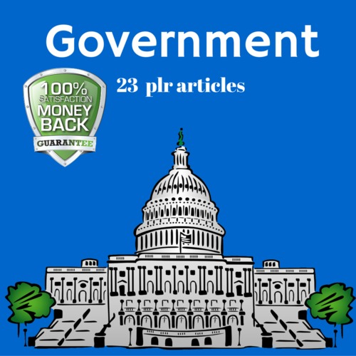 Product picture Government - PLR Private Label rights Articles