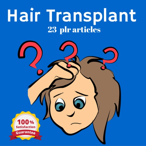 Product picture Hair Transplant - PLR MRR Private Label Rights Articles