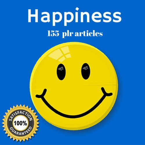 Product picture Happiness - MRR PLR Private Label Rights Articles