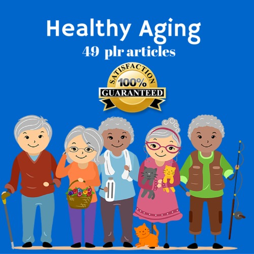 Product picture Healthy Aging - PLR MRR Private Label Rights Articles