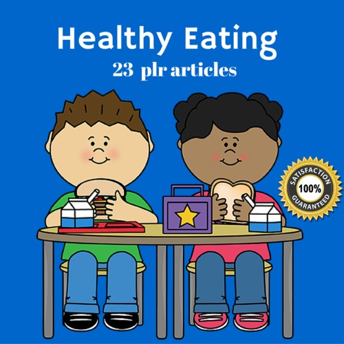 Product picture Healthy Eating - PLR MRR Private label Rights Articles