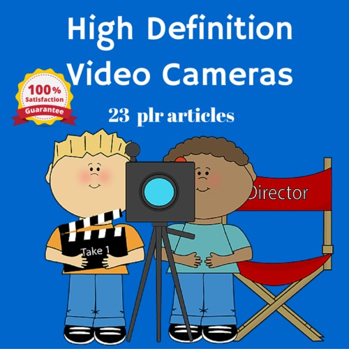 Product picture High Definition HD Cameras - PLR MRR Articles
