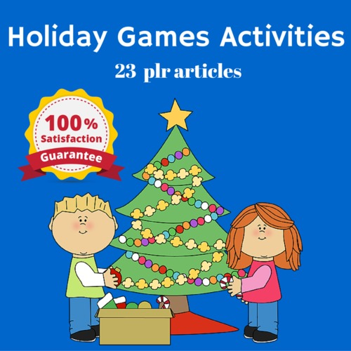 Product picture Holiday Games and Activities - PLR MRR High Quality Articles